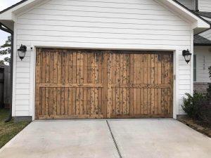 Add Warmth with Reclaimed Wood Garage Doors