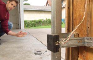 garage door opener safety sensors.